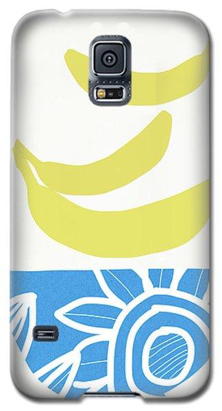 Banana Galaxy S5 Case - Bowl Of Bananas- Art By Linda Woods by Linda Woods