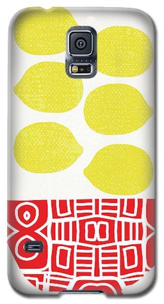 Bowl Of Lemons- Art By Linda Woods Galaxy S5 Case by Linda Woods