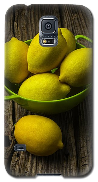 Bowl Of Lemons Galaxy S5 Case by Garry Gay
