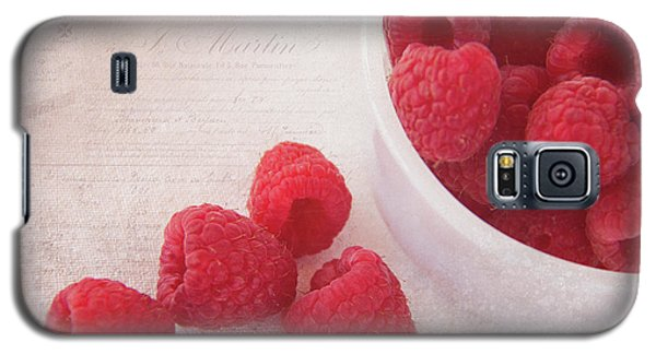Bowl Of Red Raspberries Galaxy S5 Case