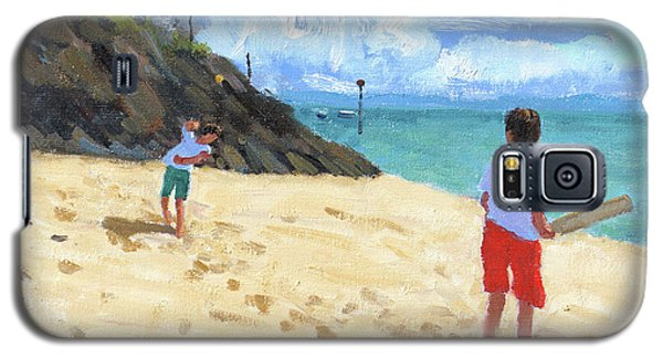 Cricket Galaxy S5 Case - Bowling And Batting, Abersoch by Andrew Macara