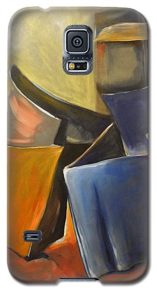 Galaxy S5 Case featuring the painting Box Scape by Nadine Dennis
