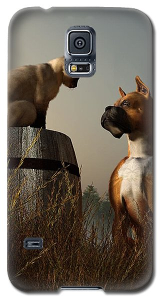 Boxer And Siamese Galaxy S5 Case