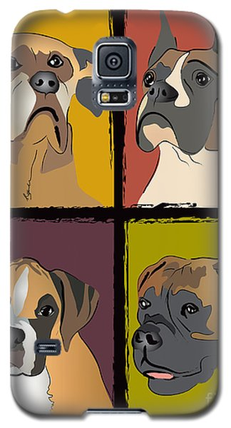 Boxer Dog Portraits Galaxy S5 Case