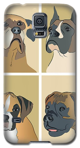 Boxer Dogs 4 Up Galaxy S5 Case