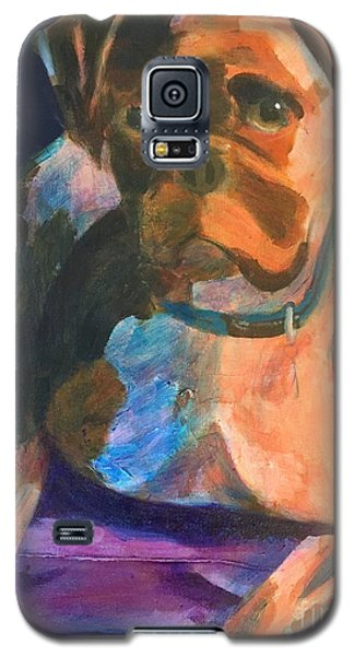 Galaxy S5 Case featuring the painting Boxer by Donald J Ryker III