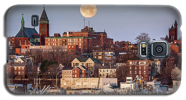 Boxing Day Moon Over Portland Maine  Galaxy S5 Case