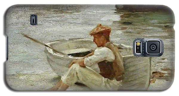 Galaxy S5 Case featuring the painting Boy And Boat  by Henry Scott Tuke
