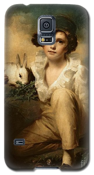 Boy And Rabbit Galaxy S5 Case by Sir Henry Raeburn
