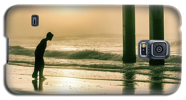 Galaxy S5 Case featuring the photograph Boy At Sunrise In Alabama  by John McGraw