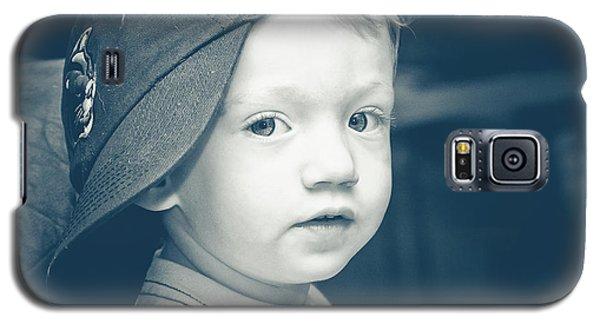 Boy In A Sideways Baseball Cap Galaxy S5 Case