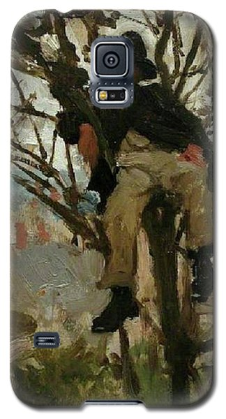 Galaxy S5 Case featuring the painting Boy In A Tree by Henry Scott Tuke