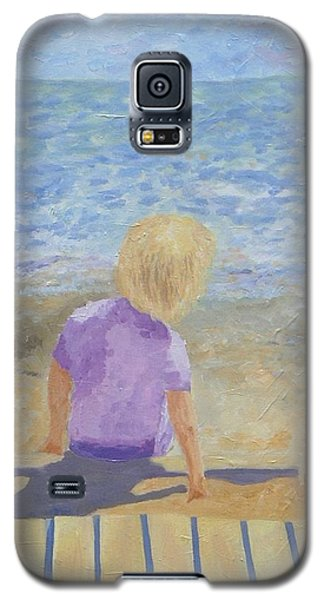 Boy Lost In Thought Galaxy S5 Case