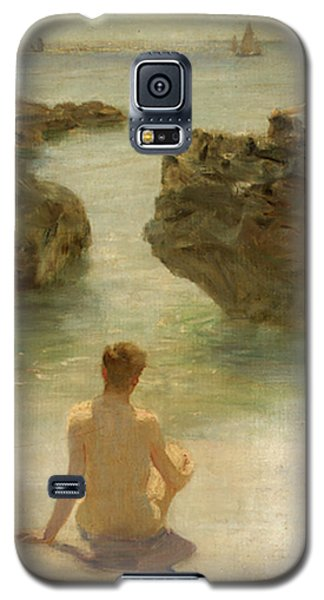 Galaxy S5 Case featuring the painting Boy On A Beach, 1901 by Henry Scott Tuke
