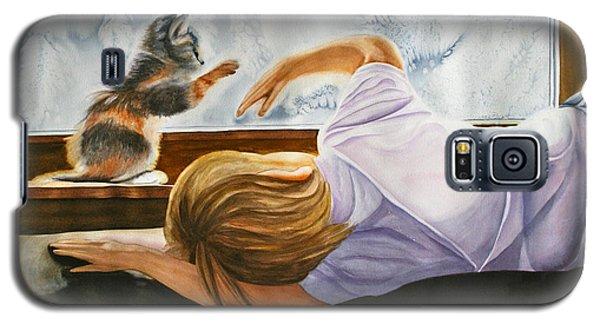 Boy With Kitten Galaxy S5 Case by Teresa Beyer