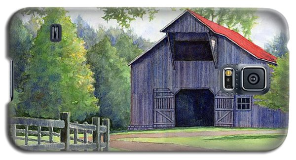 Galaxy S5 Case featuring the painting Boyd Mill Barn by Janet King