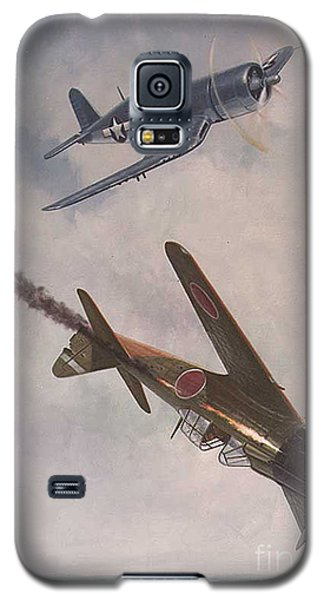 Galaxy S5 Case featuring the painting Boyington Christmas by Paul Clinkunbroomer
