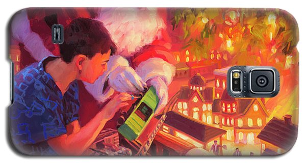 Boys And Their Trains Galaxy S5 Case