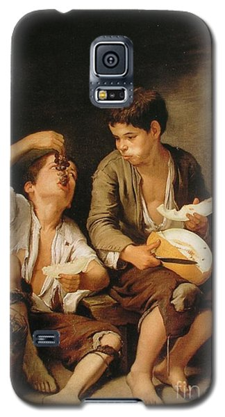Galaxy S5 Case featuring the painting Boys Eating Grapes And Melon by Pg Reproductions