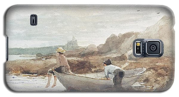 Boys On The Beach Galaxy S5 Case by Winslow Homer
