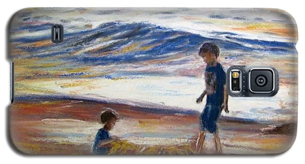 Boys Playing At The Beach Galaxy S5 Case