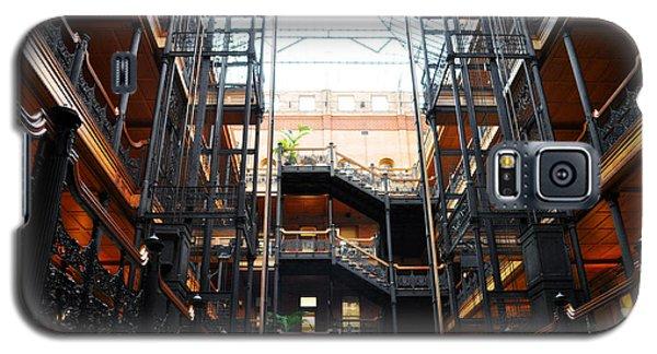 Galaxy S5 Case featuring the photograph Bradbury Building Los Angeles by Kyle Hanson