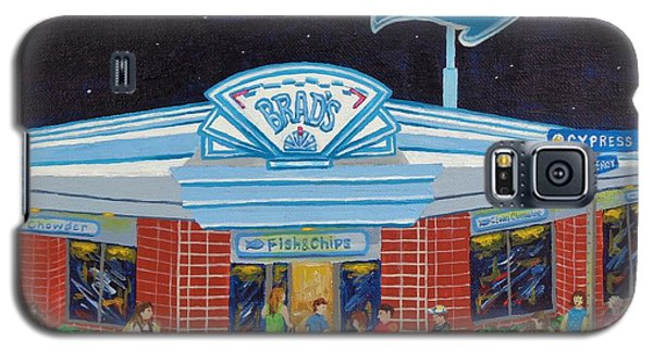 Galaxy S5 Case featuring the painting Brad's Pismo Beach California by Katherine Young-Beck