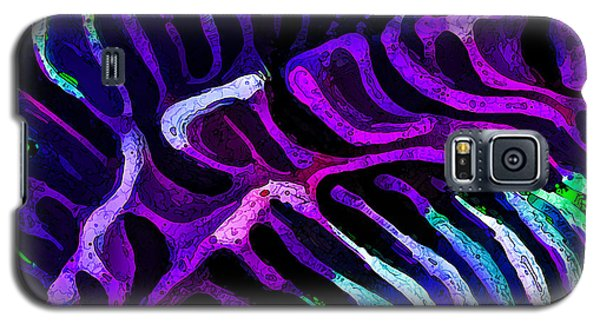Galaxy S5 Case featuring the digital art Brain Coral Abstract 3 In Purple by ABeautifulSky Photography