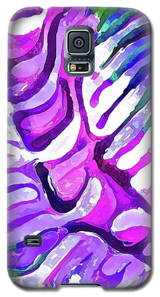 Brain Coral Abstract 4 In Purple Galaxy S5 Case
