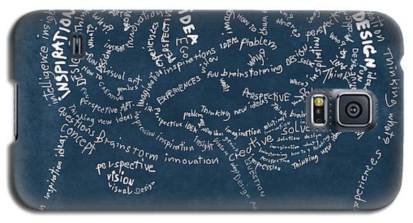 Brain Drawing On Chalkboard Galaxy S5 Case by Setsiri Silapasuwanchai