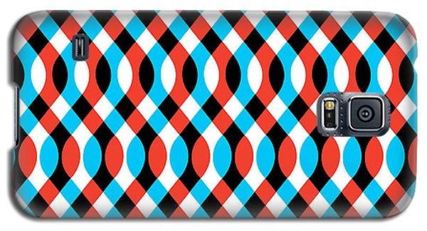 Brain Waves - Blue Galaxy S5 Case