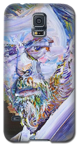 Galaxy S5 Case featuring the painting Bram Stoker - Oil Portrait by Fabrizio Cassetta