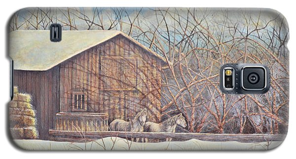 Galaxy S5 Case featuring the painting Brandon's Horses by Dusty Bahnson