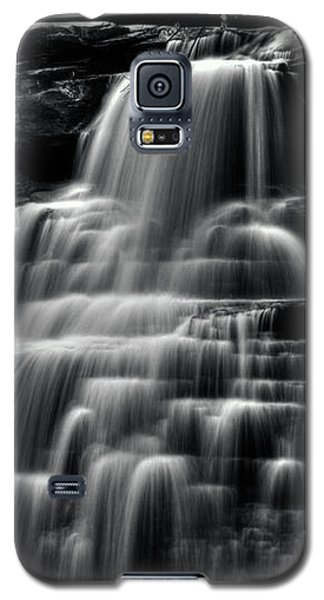 Brandywine Falls At Cuyahoga Valley National Park B W Galaxy S5 Case