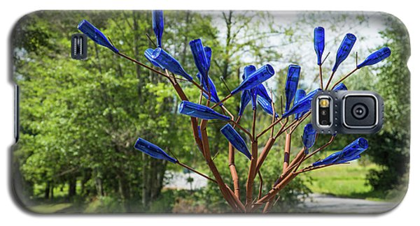 Brass Tree, Blue Bottle Leaves Galaxy S5 Case