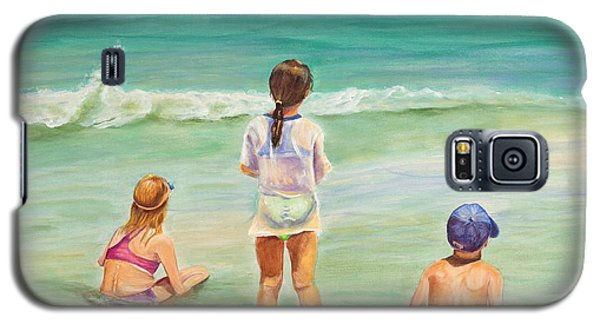 Galaxy S5 Case featuring the painting Brats by Patricia Piffath