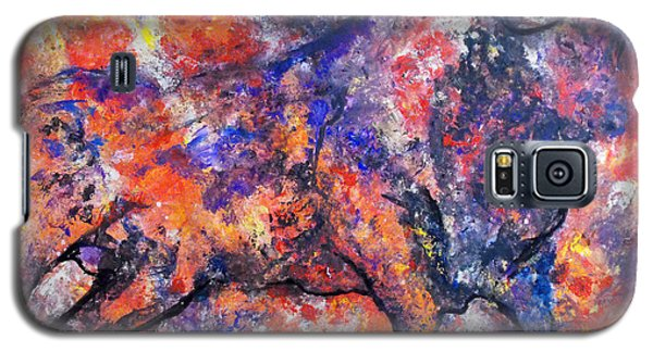 Galaxy S5 Case featuring the painting Brave Bull by Koro Arandia