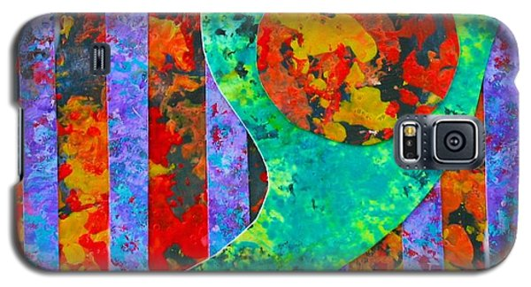 Galaxy S5 Case featuring the painting Brave New World by Polly Castor