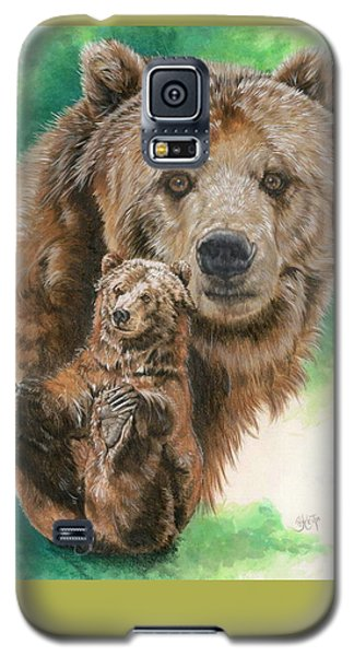 Galaxy S5 Case featuring the painting Brawny by Barbara Keith