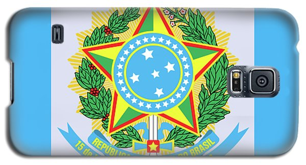 Brazil Coat Of Arms Galaxy S5 Case by Movie Poster Prints
