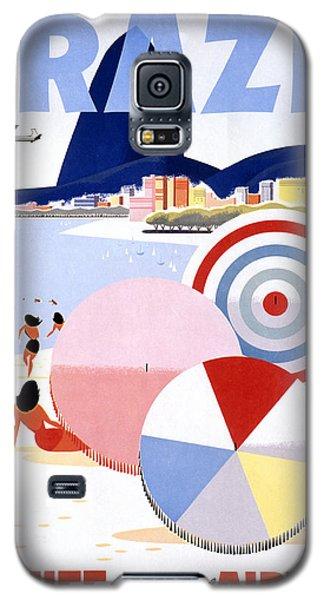 Brazil Vintage Travel Poster Restored Galaxy S5 Case