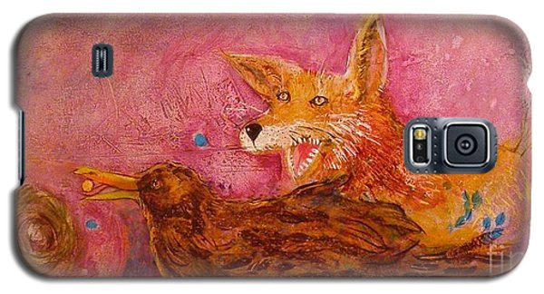 Galaxy S5 Case featuring the painting Bre Fox And Bre Crow by Gertrude Palmer