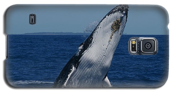 Galaxy S5 Case featuring the photograph Breaching Humpback Whale by Gary Crockett