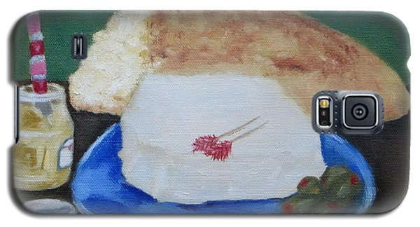 Galaxy S5 Case featuring the painting Bread And Cheese by Patricia Cleasby