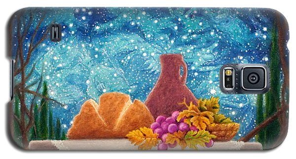 Galaxy S5 Case featuring the painting Bread And The Fruit Of The Vine by Matt Konar