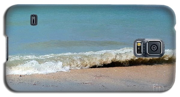 Galaxy S5 Case featuring the photograph Break In The Sand by Jeanne Forsythe