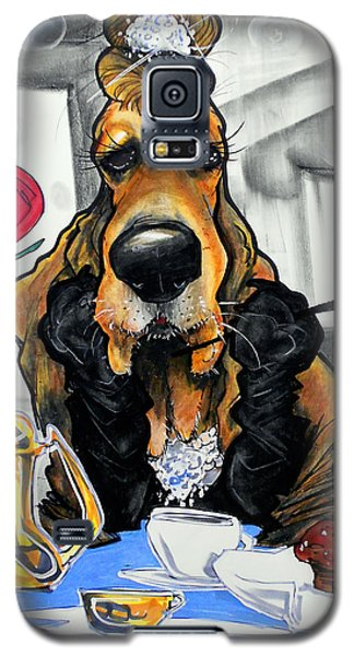 Breakfast At Tiffany's Basset Hound Caricature Art Print Galaxy S5 Case