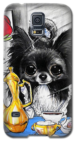 Breakfast At Tiffany's Papillon Caricature Art Print Galaxy S5 Case