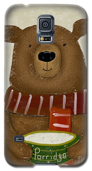 Galaxy S5 Case featuring the painting Breakfast For Bears by Bri B