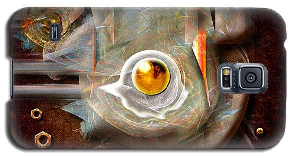 Galaxy S5 Case featuring the digital art Breakfast In The Factory by Alexa Szlavics